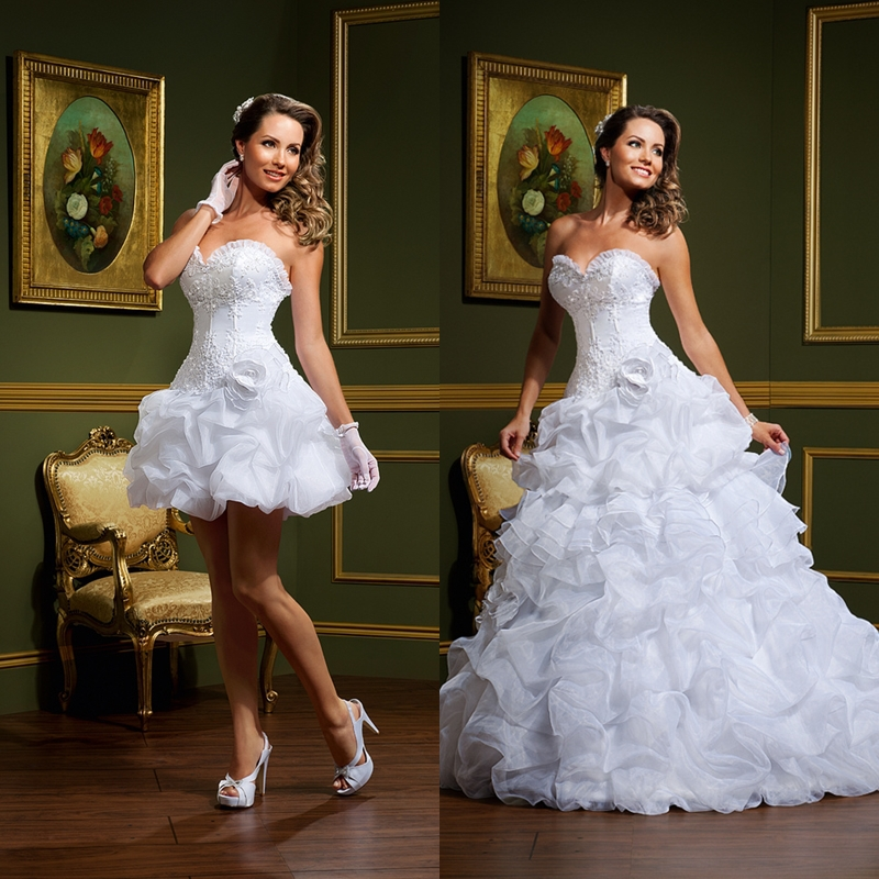 Elegant 2 Piece Wedding Dresses : Elegant sweetheart lace two piece wedding dresses
