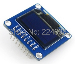 0.96 inch SPI Blue OLED Vertical Display Module with Straight Pinheader SSD1306 IC 128*64 I2C Interface(China (Mainland))