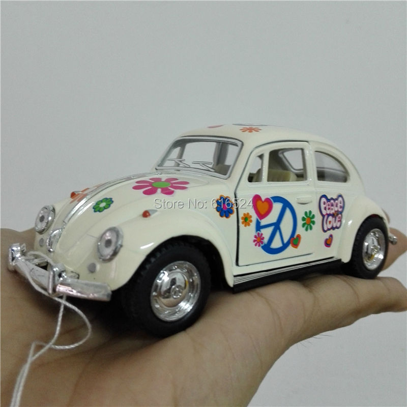 5'' DieCast Metal Pull Back 1967 Volkswagen Classical Beetle printing (Pastel Color) 1:32 Alloy Kinsmart Diecast model toy cars(China (Mainland))