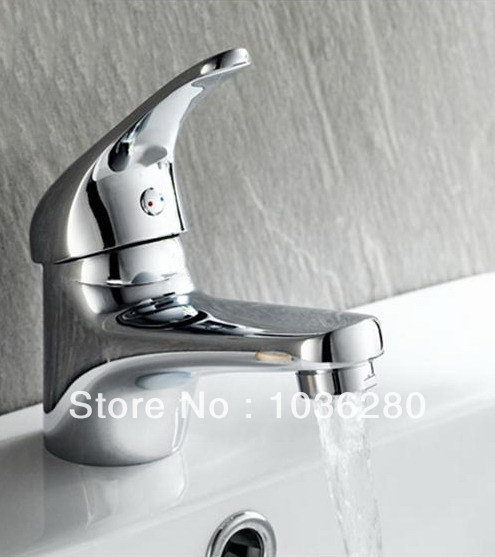New Bathroom Brass Chrome Basin Sink Single Lever Mixer Tap Faucet FD-1961 Water(China (Mainland))