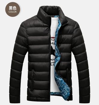 Бесплатная доставка 2015 мода горячая распродажа новинка мужчины с двойной стороной вниз-хлопка мужские зимнее пальто верхней хлопка одежды