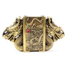 Buy gold dragon buckle belt Kerosene lighter belt buckle head metal punk style belts parts men's lighter belt for $9.13 in AliExpress store