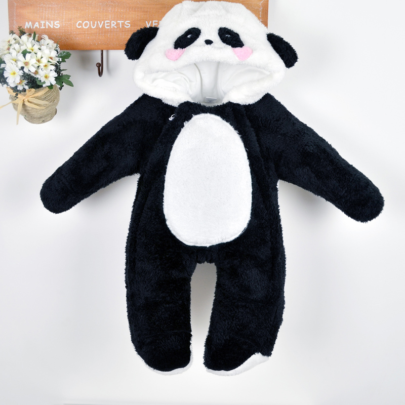 New 2015 kids jumpsuit children winter coveralls newborn baby clothes baby boys girls cartoon panda thick down cotton rompers<br><br>Aliexpress