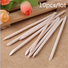 10pcs Nail Art Orange Wood Stick Cuticle Pusher Remover for nail art care Manicures nail tools