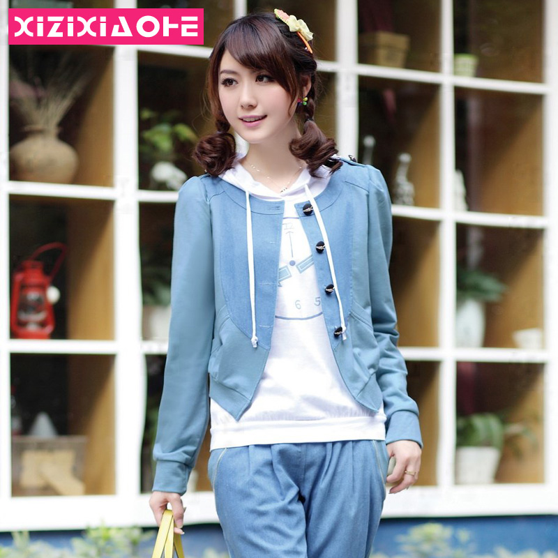 2013 autumn juniors clothing casual sports set outerwear(China (Mainland))