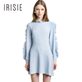 IRISIE Apparel Blue Ruffled Mini Dress Women Clothing Preppy Sweet Chic Cute Fashion Vestido Casual Loose