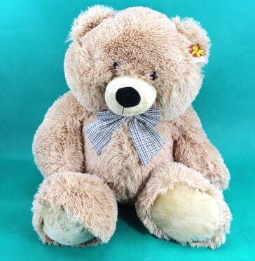 Plushed toys teddy bear sitting heith 60 cm stuffed soft doll for child home decoration AB100(China (Mainland))