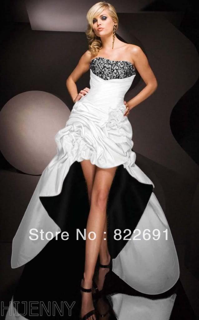 Black And White Cocktail Dress - Ocodea.com