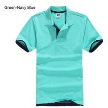 Большие размеры, XS-3XL, новая брендовая мужская рубашка поло, Высококачественная Мужская хлопковая рубашка с короткими рукавами, брендовые м...(China)