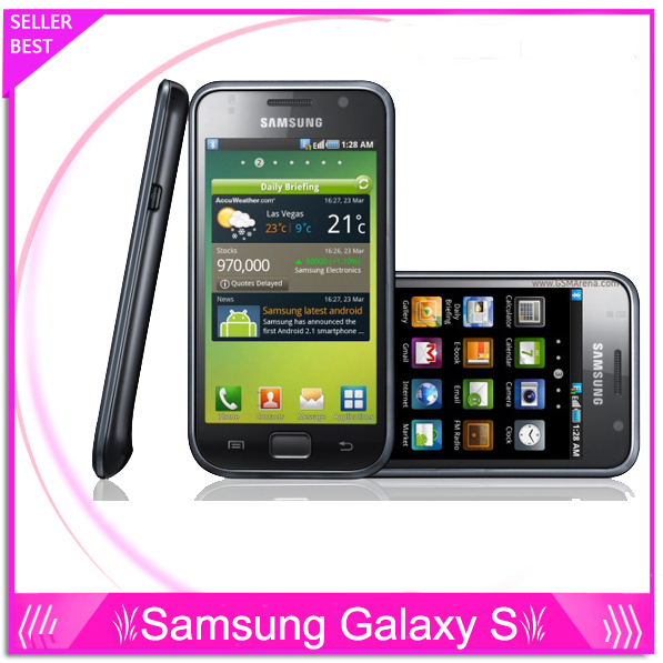 Unlocked Original Samsung Galaxy S I9000 Cell phones GSM 3G 4.0'' Wifi GPS 5MP Camera Android Free Shipping(China (Mainland))