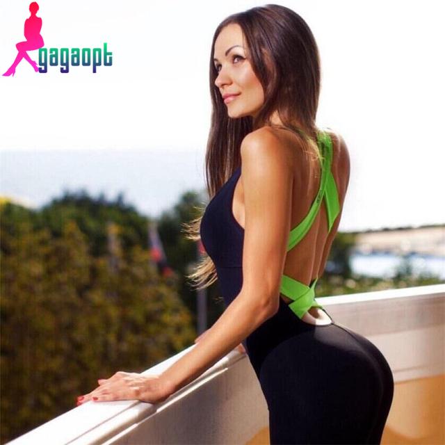 Gagaopt 2016 Новая Коллекция Весна Женщины Комбинезон Лоскутное Тело Женщины Без ...