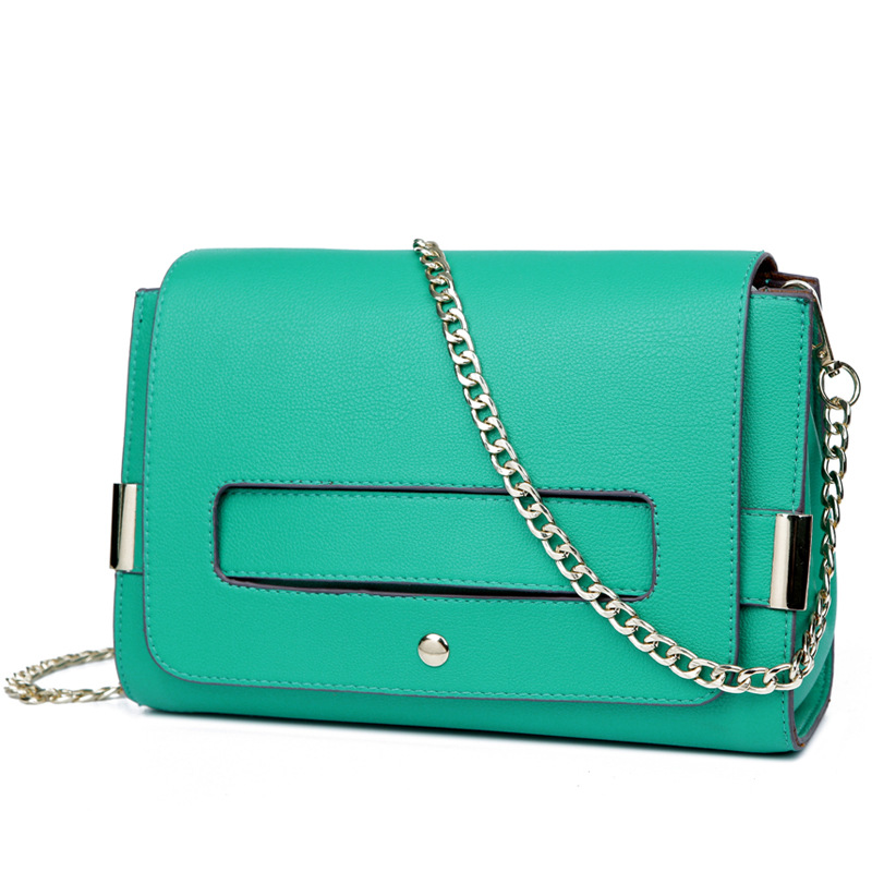 The new European and American style shoulder bag women leather shoulder bag women chain leather handbag women messenger bags(China (Mainland))