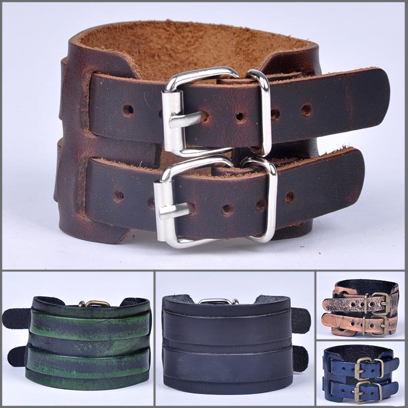 PU Leather Bracelets Fashion pulseras Adjustable Men Boys Wristband Bangle 2 Layer 5 stlyle choice High quality zx*SS1082W#c9(China (Mainland))