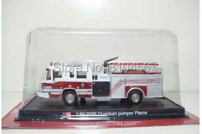 Free shipping AMER COM USA Fire truck 1:80 2006 Quantun pumper pierce(China (Mainland))