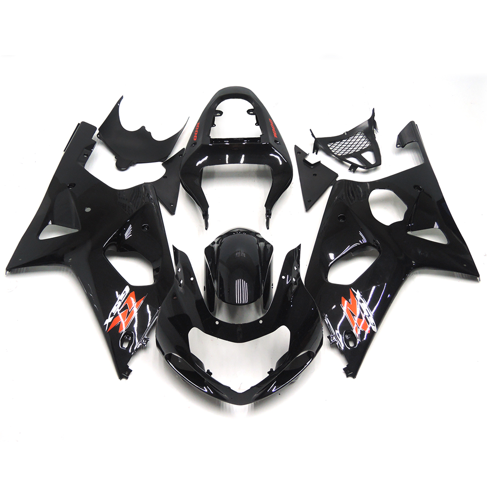 Complete Fairings For Suzuki GSXR1000 K1 K2 00 01 02 Injection ABS Plastic Motorcycle Fairing Kit Bodywork Cowling Gloss Black(China (Mainland))
