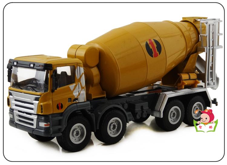 huayi 1:50 all-alloy car models toy model truck mixer(China (Mainland))