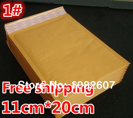 "Bubble Mailers Padded Envelopes Bags KRAFT BUBBLE MAILERS MAILING ENVELOPE BAG 4.3""X7.9""[110mm""x200mm""] 2014 Factory sales(China (Mainland))"