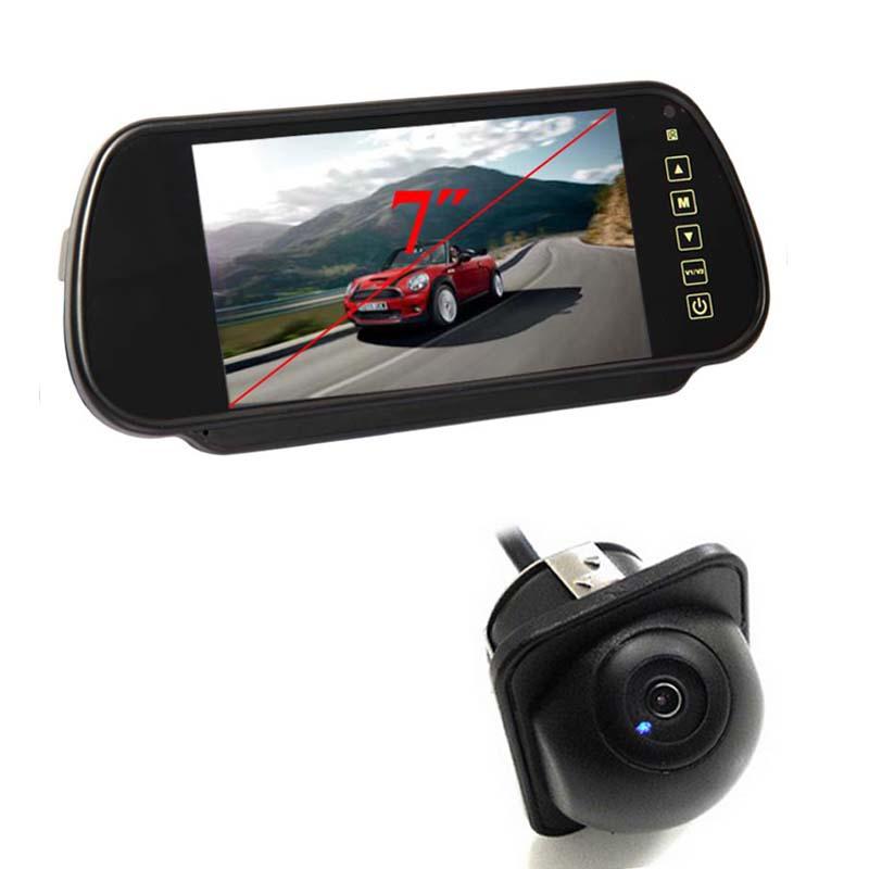 12V Universal 7 Inch Tft Color Hd Screen Lcd Car Monitor + 170 Wide Angle HD Night Vision Car Rear View Camera Parking Camera(China (Mainland))