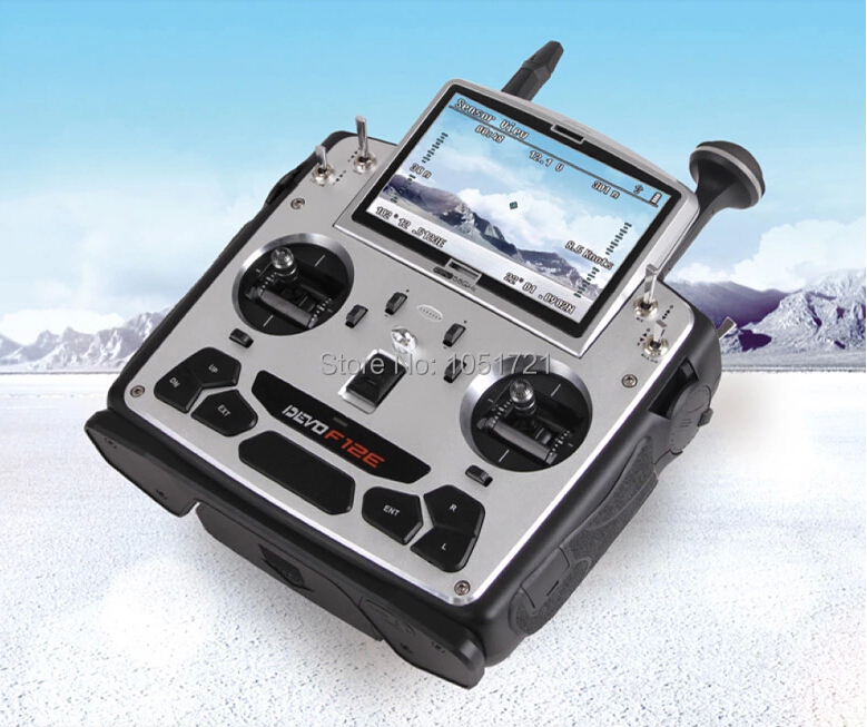 """Walkera Devo F12E Transmitter FPV Radio 32 channel 5.8GHz with 5"""" LCD Display for H500 X350 pro X800 RC Drone Quadcopter(China (Mainland))"""