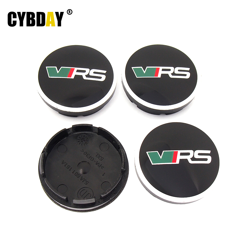 New 4pcs/lot 56mm VRS RS Logo Wheel Center Hub Cap Covers Auto Car Emblem Badge For Skoda YETI OCTAVIA FABIA Superb 5JA601151A<br><br>Aliexpress