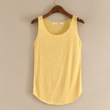 2016 Summer Women's Tank Tops Solid Color Casual Fitness Top Vest Ladies Bamboo cotton sport Vest Tshirt Womens 12 Color(China (Mainland))