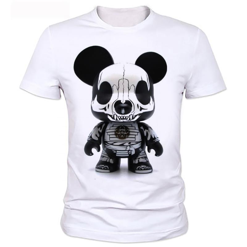 3D metal panda skull print T-shirt men summer men essential fashion dress casual and comfortable shirt 99#(China (Mainland))