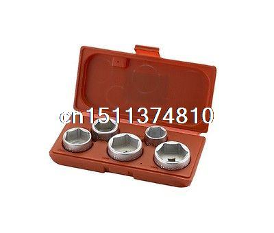 5pcs Cap Type 6PT Oil Filter Wrench Set Removal Wrenches Hand Tools(China (Mainland))
