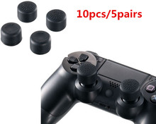 Increase 1.2CM height Silicone 3D Soft Analog Controller Thumb Stick Grips Cap Skin Cover for Sony PlayStation 4 PS4 thumbsticks