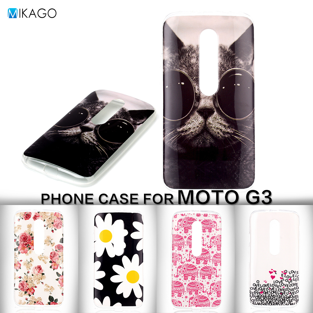 Painted Pattern Soft TPU Silicon Lfor Motorola Moto G3 G 3rd Gen Case For Motorola Moto G3 G 3rd Gen mobile Phone Cover Case(China (Mainland))