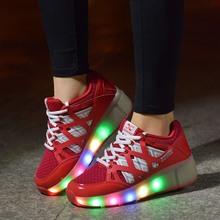 2016 Child Jazzy Heelys, Junior Girls/Boys LED Light Heelys, Children Roller Skate Shoes, Kids Sneakers With Single Wheels(China (Mainland))