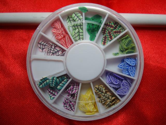 3 conjunto uma caixa de strass decoração de unhas brilho suave cerâmica frutas unhas unhas folha pó 3d Nail Art decorações