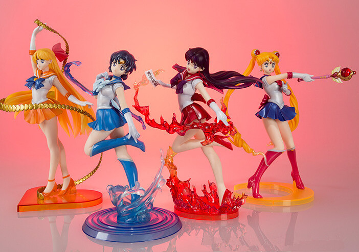 Sailor Moon Figure Figuarts Zero 180mm Sailor Mars Zero Mercury Venus PVC Sailor Moon Zero Action Figure Anime Sailor Moon Toys(China (Mainland))
