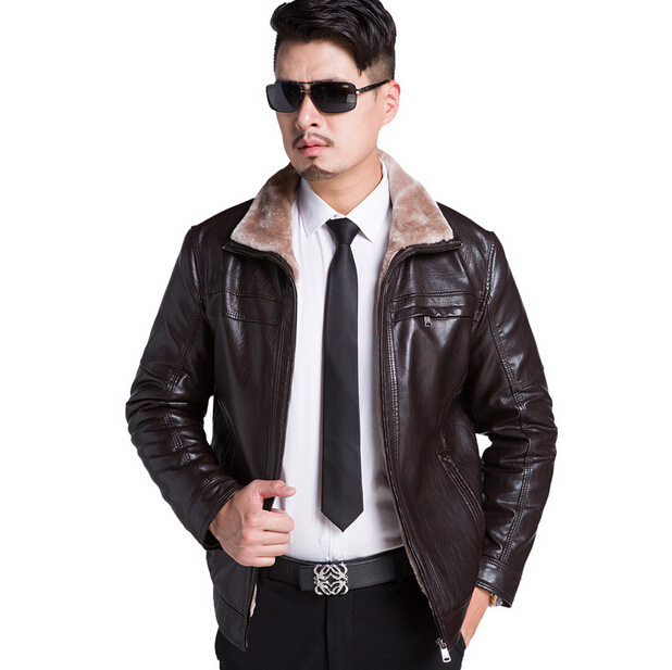 Free Shipping! 2015 Lambs Wool Mens Genuine Leather Jacket Men Motorcycle Leather Jacket Men Fur Winter Coat Warm Outdoor M-3XLОдежда и ак�е��уары<br><br><br>Aliexpress