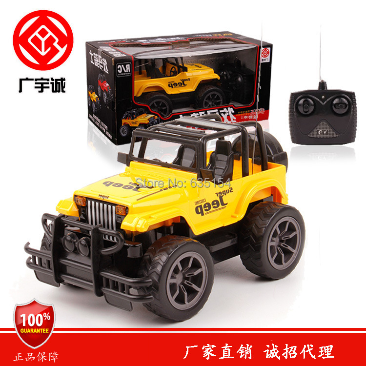 Wholesale 3pcs/pack 1/24 Scale RC Cars Big Wheel Cross-country Jeep 4 Channels LED Automotive Light Remote Control Car Toy(China (Mainland))