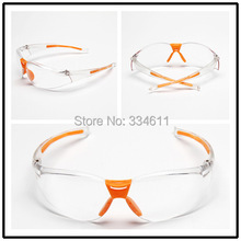 2PCS Transparent  HQ   Safety Polycarbonate safety Works Over Economical Safety Glasses, wind and dust goggles anti-fog medical(China (Mainland))