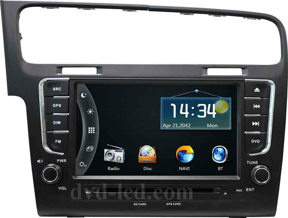 vw volkswagen golf 7 autoradio car dvd gps player radio. Black Bedroom Furniture Sets. Home Design Ideas