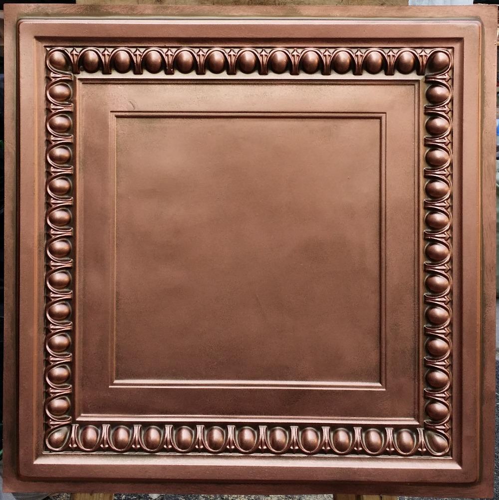 PL06 Faux tin antique red copper ceiling tiles Interior