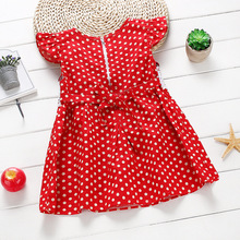 Buy Kids Girls Summer Dress Toddler Child Sleeveless Lace Polka Dots Dress 1-3Y H3 for $2.96 in AliExpress store