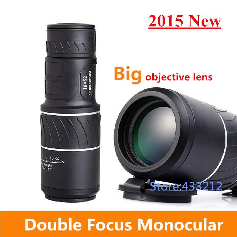 Sale 2015 New 16x52 Dual Focus Optics Monocular Telescope with Sports Hunting Concert,Faint