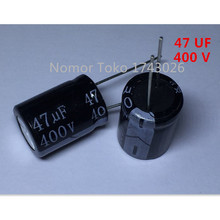 Buy Pengiriman gratis 10 pcs/lot Aluminum electrolytic capacitor 47 uF 400 V 16*22mm 47uf 400v 400V 47UF Electrolytic capacitor ic.. for $3.48 in AliExpress store