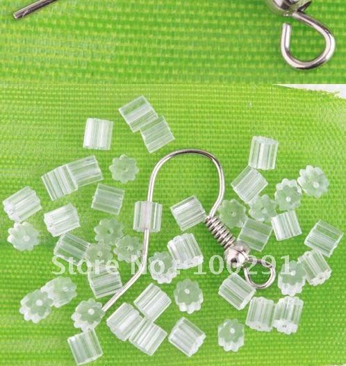 Free shipping!!!5000 Rubber Cube Earring Back Stoppers TUBE(China (Mainland))