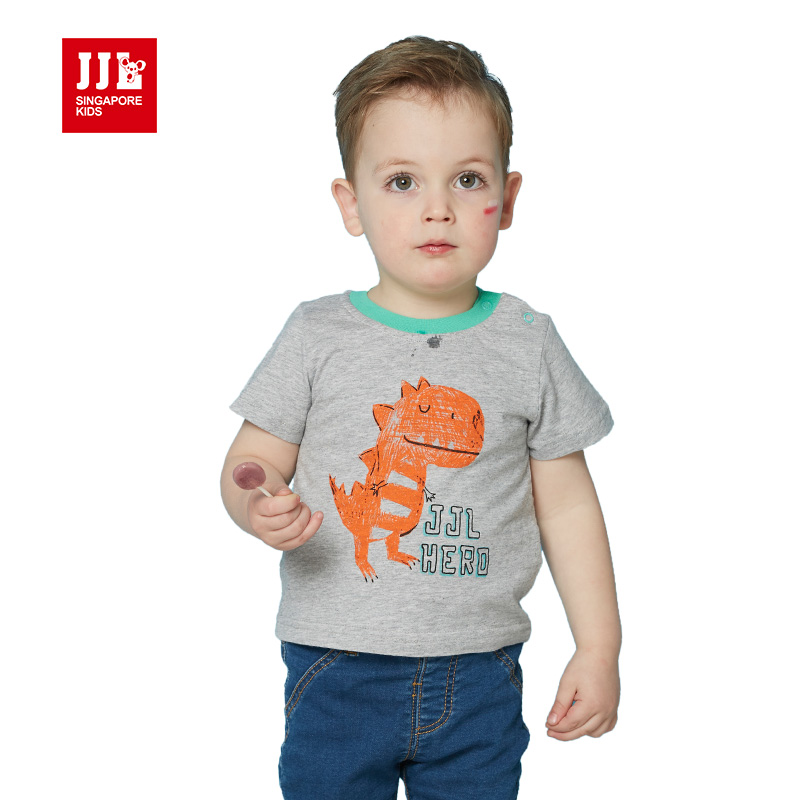 dinosaur baby boy t shirt short sleeve kids tshirt baby tees print infant clothes kids clothes children cartoon shirts 2016(China (Mainland))