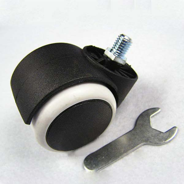 With 10mm threaded stem 2 chair parts pu casters wheels for 2 furniture casters