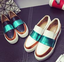 Spring and autumn New 2016 women shoes Serpentine surface women flat slip on higher fashion Bost shoes comfortable Loafers