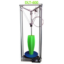 Free shipping High Accuracy Reprap HE3D-DLT600 delta 3d printer diy kit with LCD printer size 280x280x600mm