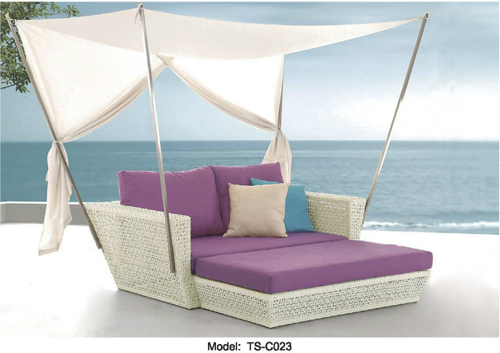 Outdoor patio sofa lounge canopy day bed deck poolside for Outdoor poolside furniture