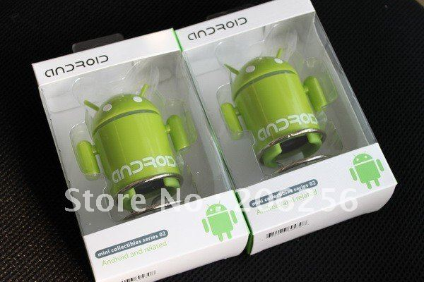 Hot Sale 5-color Google Android Robot Mini Speaker w/ USB Cable for Tablet PC Notebook Mobile Phone(China (Mainland))