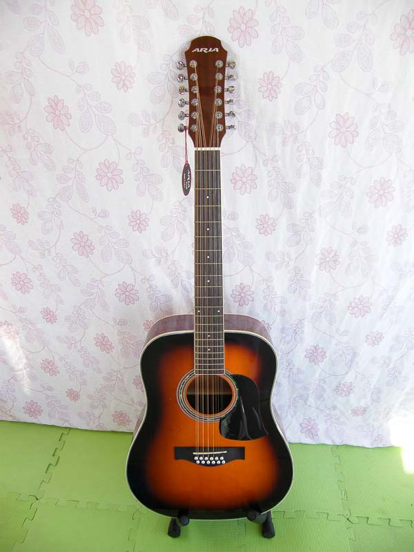 full size 12 string  acoustic guitar  41inch  solid wod professional play