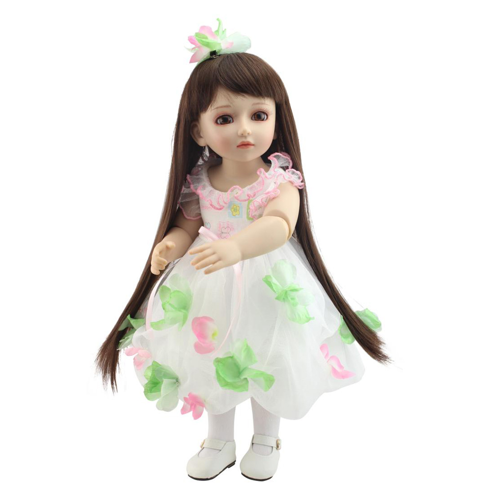 New 2016 18 inches /45CM SD/BJD Girl Doll Moving Joint Body Princess Beauty Dress DollsToys Gift for Girl Kids Free Shipping<br><br>Aliexpress