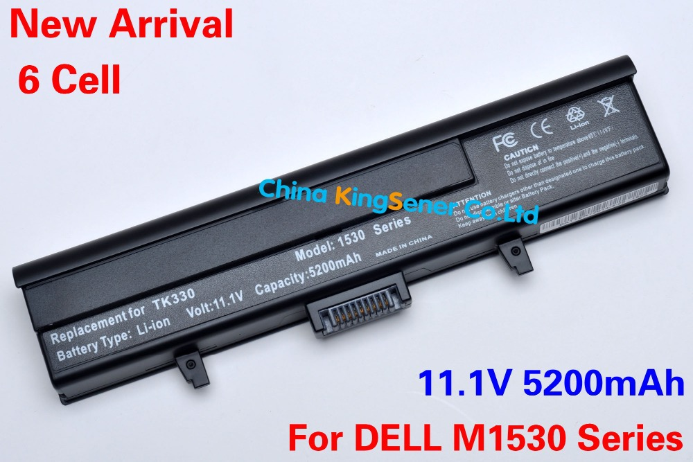 5200mAh 6 Cell New Laptop Battery DELL XPS M1530 1530 HG307 RU006 TK330 RU033 RN894 GP97 XT832 312-0664 451-10528